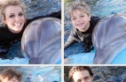 بريتني سبيرز مع اولادها وحبيبها والدلافين