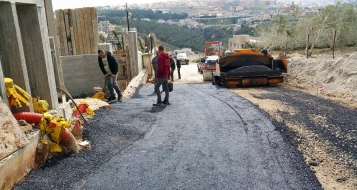 مصمص: أعمال تطوير وتعبيد لشارع البيادر- المدرسة الابتدائية