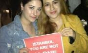اسميتها فريحة تشارك بمظاهرات تركيا