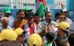 لاجئو غزة يعتصمون أمام مقرات تعليم الاونروا