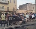 مظاهرة منددة بجرائم المستوطنين في يافا، واعتقال شابين