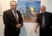 رئيس بلدية الناصرة علي سلام يفتتح  معرض الفنان المبدع طارق شريف