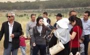 وقفة احتجاجية عربية يهودية ضد مخطط تمرير خط الكهرباء من اراضي الروحة