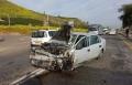 حادث طرق مروّع قرب طبريا وسيدة تعلق داخل السيارة