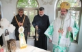 المطران حنا يترأس الاحتفال بسبت اليعازر في كنيسة دير الشعانين في بيت فاجي