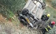 وادي سلامة: سقوط سيارة لمنحدر 10 امتار واصابة سائقها بجراح بالغة