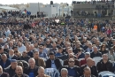 الآلاف في مسيرة الغضب بقلنسوة: إجماع على التصدي لسياسة الهدم