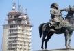 تغطية تمثال ابراهيم باشا أثناء مرور الملك السعودي!