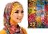 الحجاب المنقوش موضة ربيع وصيف 2015