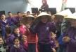 هيام ذياب في عرض وورشات مسرحية في مدرستين ابتدائيتين في طمرة ضمن نشاطات آذار الثقافة