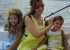 نانسي عجرم مع ابنتيها في عرض البحر