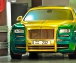 رولز رويس غوست بألوان وتعديلات غير عادية فى دبى   رولز رويس غوست بتعديلات مانسورى فى دبي