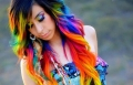 تعليمات لصبغ الشعر بألوان قوس قزح