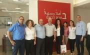 افتتاح المقر الجديد في لبنك هبوعليم في يافة الناصرة