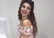 ميريام فارس ترتدي فستان مرصع بالألماس في حفل زفاف بقطر
