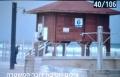 حرق غرفة منقذ بأحد شواطئ كريات حاييم وخط عبارات عنصرية ضد اليهود