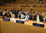 خطاب تاريخي للطيبي في الأمم المتحدة : جئتكم حاملًا هموم القدس وضحايا العنصرية الاسرائيلية