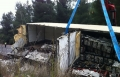 الرامة: حادث طرق ذاتي لشاحنة كبيرة محملة بالبيض
