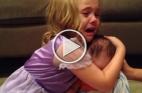 .طفلة تبكي لأنها لا تريد لشقيقها أن يكبر إنها تُحبه هكذا