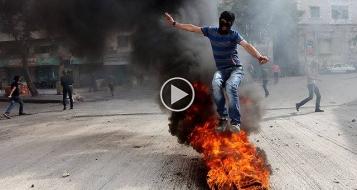 بيت لحم: مواجهات عنيفة بين الجيش الاسرائيلي وشبان فلسطينيين خلال مسيرة التضامن مع غزة