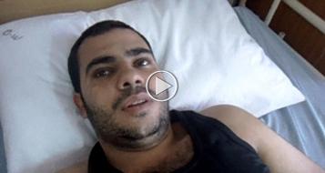 المسعف ابو عاصي لبُكرا: تم استهدافي و انا اعالج الجرحى في حي الشجاعية