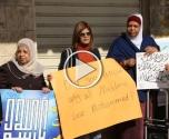 عكا: نساء عكا يتظاهرة نصرة لرسول الله