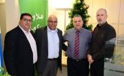 أعضاء الإدارة المركزية في بنك مركنتيل يقومون بجولات وزيارات لفروع البنك في أنحاء الوسط العربي