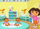 لعبة دورا والاهتمام بالأطفال الرضع