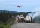 براعة قائد طائرة في مواجهة خطر حريق