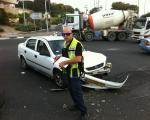 الناصرة: 5 اصابات بحادث طرق قرب المحاكم