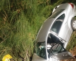 وادي الحمام: سقوط سيارة واصابة سائقتها