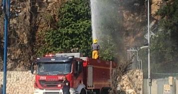 الناصرة: حريق بالقرب من محطة وقود باز وحالات اختناق