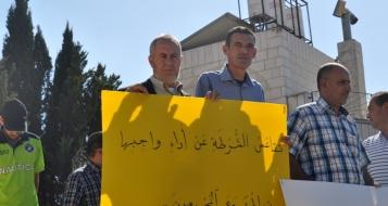 ام الفحم: تظاهرة امام مركز الشرطة احتجاجا على الاعتداء على والد طالبة