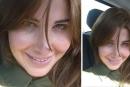 نانسي عجرم تلتقط صورة سيلفي داخل سيارتها