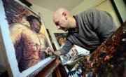 جثة القذافي مصدر إلهام للفنانين في أوروبا
