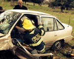 مسعدة : 3 اصابات احدها خطيرة بحادث طرق ذاتي