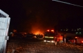 البعنة: حريق هائل في محل لسيارات الخردة
