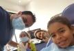 الفنانة شيرين عبدالوهاب مع بناتها داخل مستشفى خاص