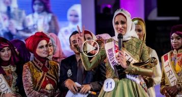 فوز التونسية فاطمة بمسابقة ملكة جمال المسلمات