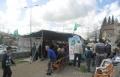 المئات يؤدون صلاة الجمعة في خيمة الاعتصام في عارة- عرعرة