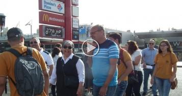 الناصرة: انطلاق حافلات المدارس الاهلية لمظاهرة القدس