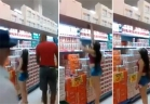 فتاة قصيرة تتعرض لموقف محرج داخل سوبر ماركت