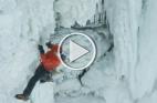 أول متسلق للجزء المتجمد من شلالات نياجرا