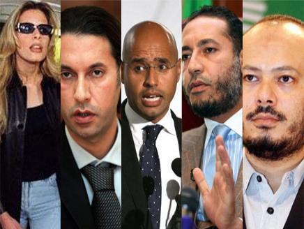 """وصل أبناء """"آل القذافي"""" إلى"""