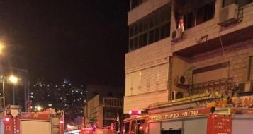 الناصرة: احتراق شقّة سكنية قرب العين وحادث دراجة نارية بنفس المنطقة