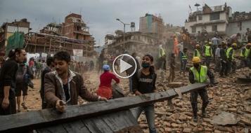 زلزال نيبال: وصول قوافل الاغاثات مطار كتماندو