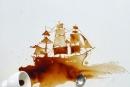 إبداعات فنانة إيطالية من القهوة