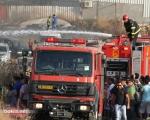 حريق هائل في لفتا على مشارف القدس
