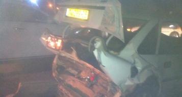 حادث طرق و 3 اصابات على مفرق وادي سلامة