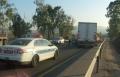مفرق كدوري: اصابة متوسطة في حادث طرق بين شاحنة وخصوصية